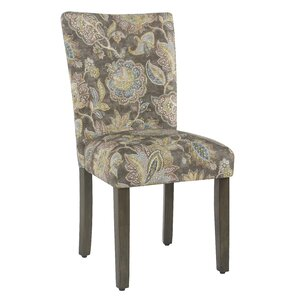 Champaign Floral Upholstered Dining Ch..