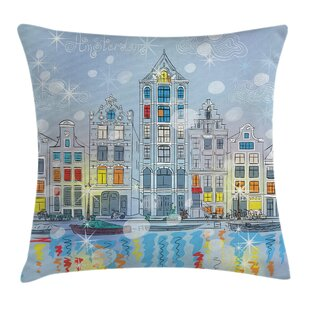christmas amsterdam canal xmas pillow cover