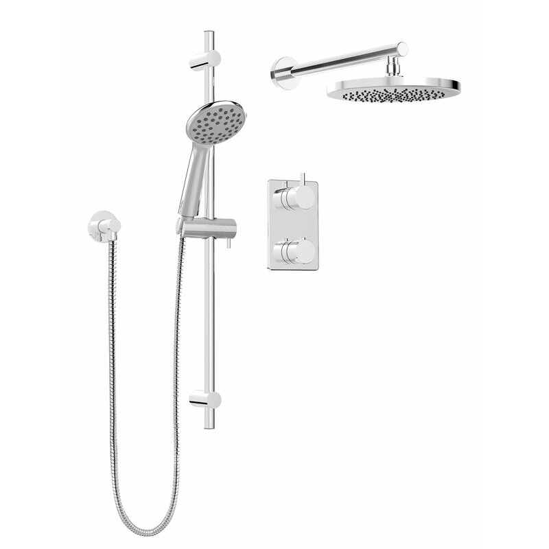 Ordinaire Modern Round Faucet Pressure Balanced Dual Function Dual Shower Head Complete  Shower System