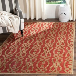 Villa Screen Red/Brown Area Rug