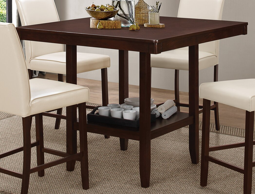 . square pub tables  bistro sets you'll love  wayfair