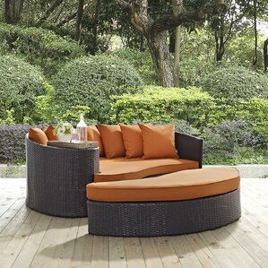 Exceptional Ryele Outdoor Patio Daybed With Cushions