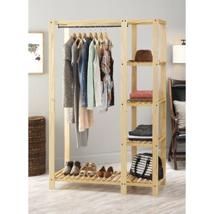 Wooden Clothes Closet Wayfair