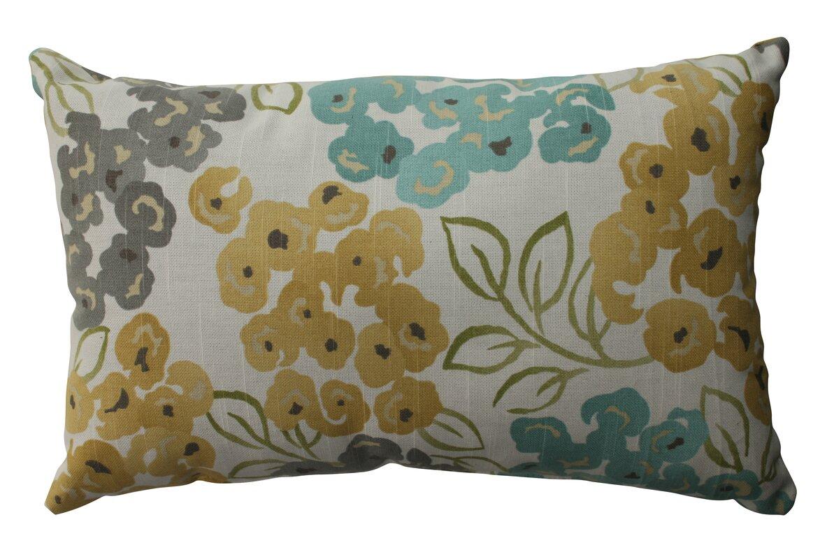 Coussin lombaire décoratif floral en coton Malcolm
