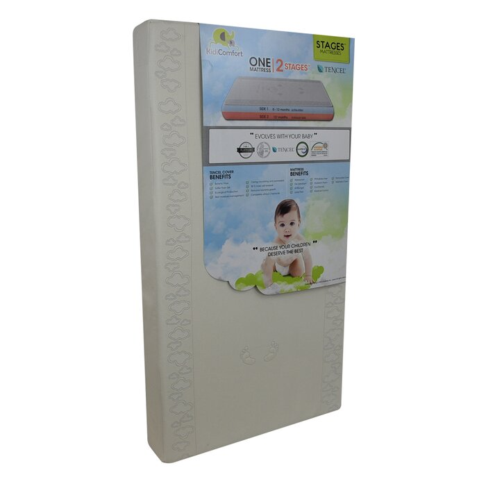 Kidicomfort Baby 2 In 1 Stages Tencel Crib Mattress Wayfair Ca