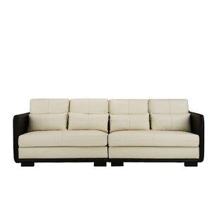 Leather Modern & Contemporary Sofas You\'ll Love | Wayfair