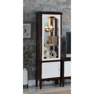 Coffey Single Glass Door Wooden Curio Cabinet