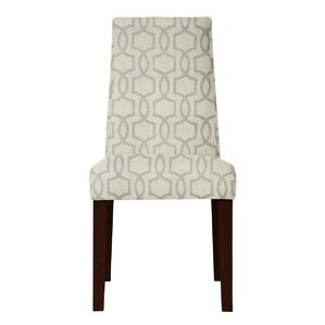 Haddonfield Gray/Beige Fabric Parsons Chair (Set of 2) by Latitude Run