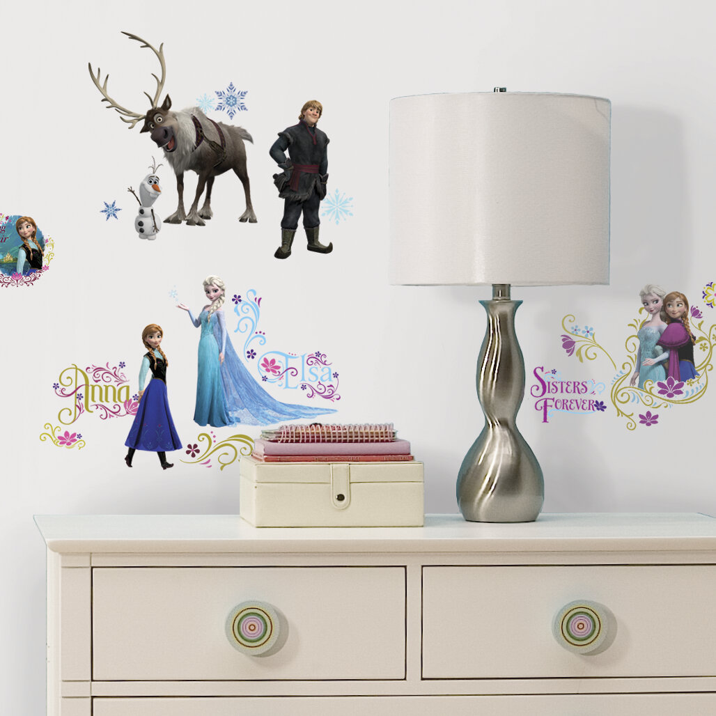 Room Mates 36 Piece Disney Frozen Characters Wall Decal Set U0026 Reviews |  Wayfair