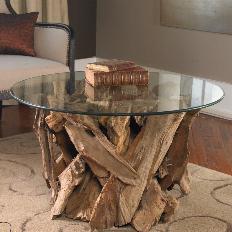 Cindi driftwood coffee table reviews birch lane for White driftwood coffee table