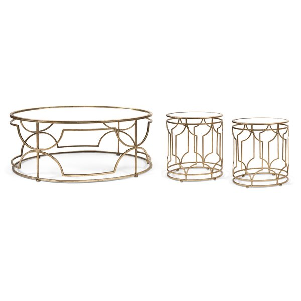 willa arlo interiors taraji 3 piece coffee table set