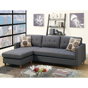 Mendosia Reversible Sectional  sc 1 st  Wayfair : tufted sofa sectional - Sectionals, Sofas & Couches