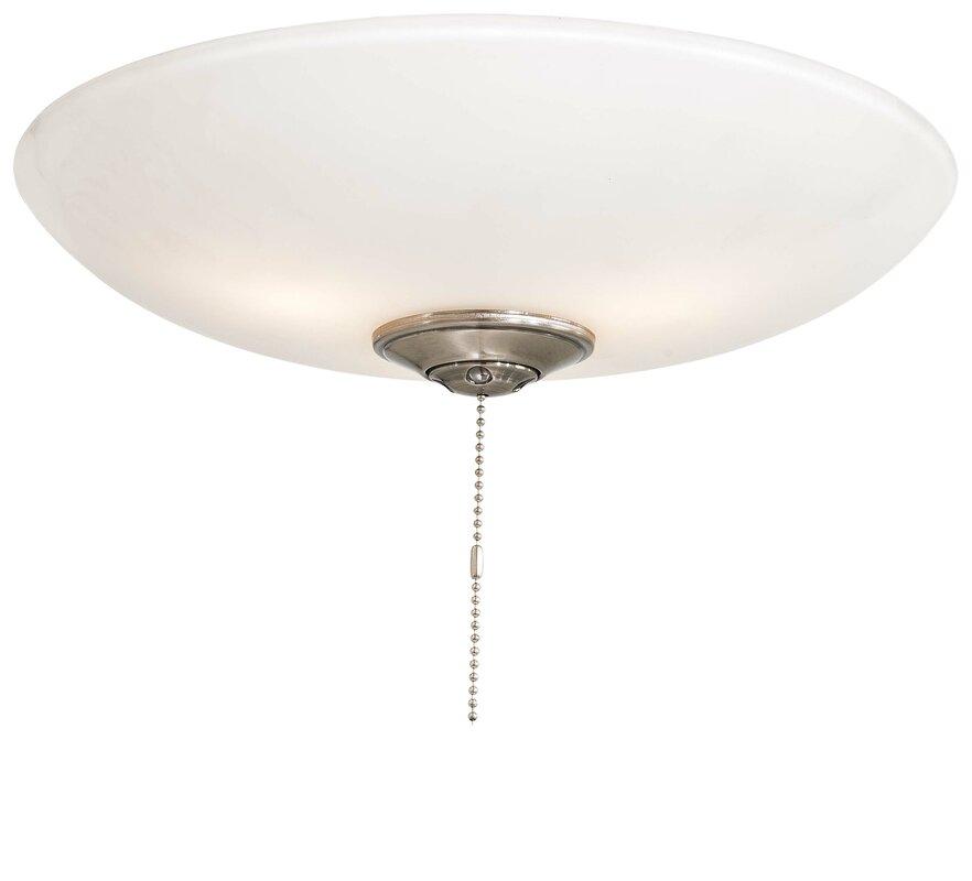 Universal 3-Light Bowl Ceiling Fan Light Kit - Minka Aire Universal 3-Light Bowl Ceiling Fan Light Kit & Reviews