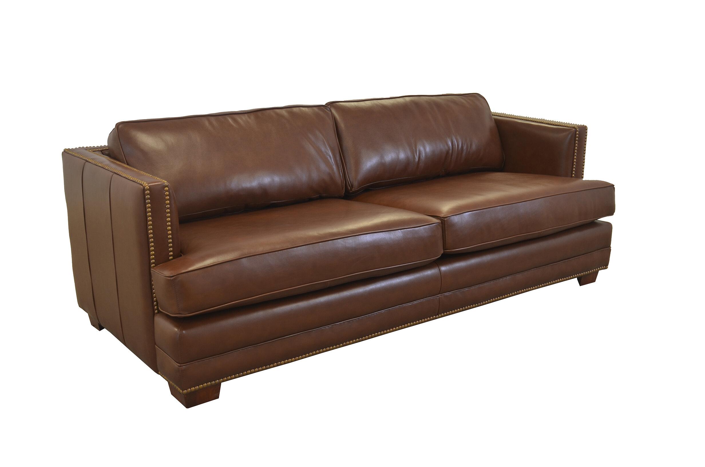 Westland And Birch Millbury Leather Sofa Wayfair