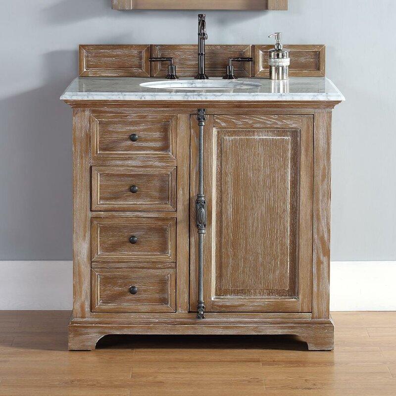 Darby Home Co Belhaven 36 Single Driftwood Bathroom Vanity Set Reviews Wayfair