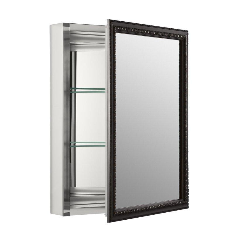 20 X 26 Surface Mount Framed Medicine Cabinet With 2 Adjule Shelves