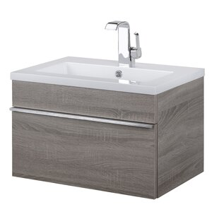 "Trough 24"" Wall Mounted Single Bathroom Vanity Set"