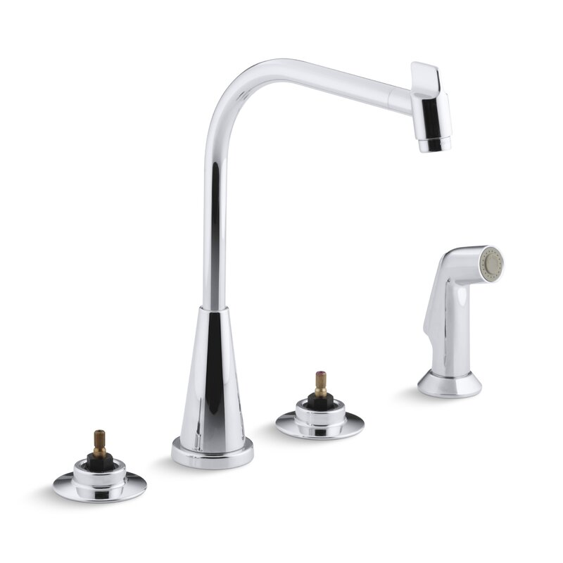 K 7779 K Cp Kohler Triton 4 Hole Widespread Kitchen Sink Faucet With