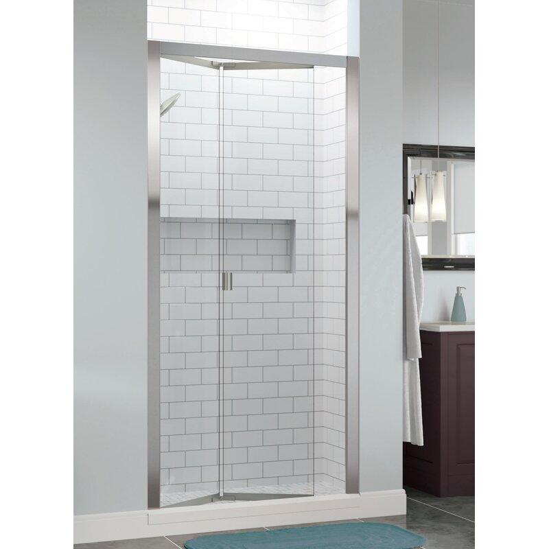Infinity Bifold 33 X 72 Folding Semi Frameless Shower Door