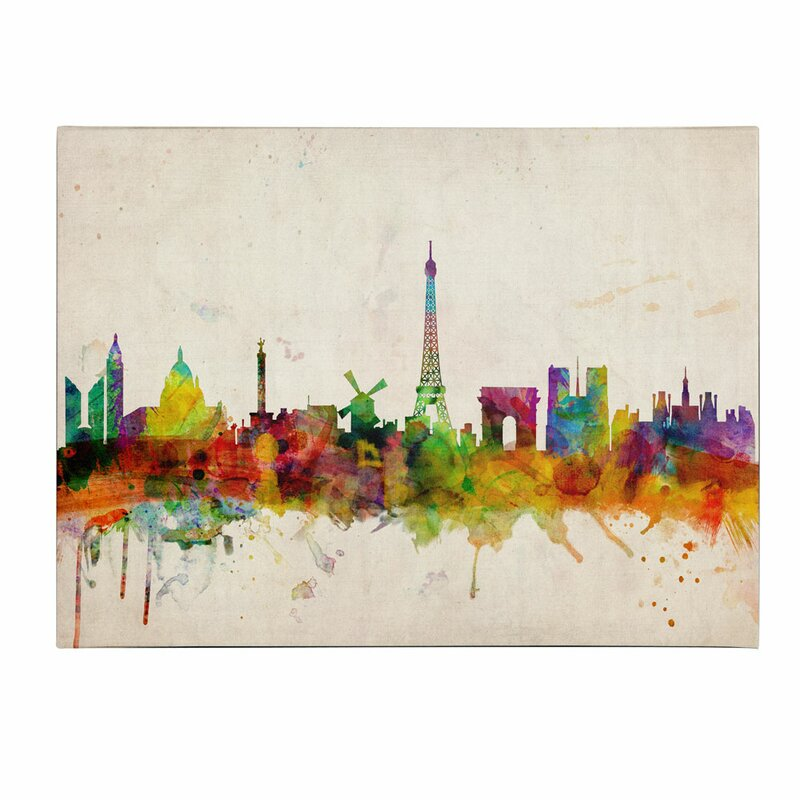 Trademark art paris skyline by michael tompsett framed painting paris skyline by michael tompsett framed painting print on wrapped canvas altavistaventures Image collections