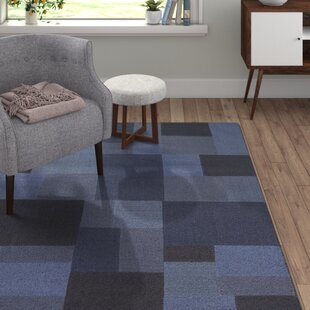 Smooth Comfort Handwoven Wool Blue Rug by Tom Tailor