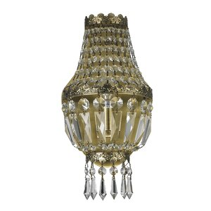 Weisser 1-Light Clear Crystal Wall Sconce