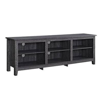 Beachcrest Home Sunbury TV Stand for TVs up to 70 with optional Fireplace Color: Charcoal, Fireplace Included: No