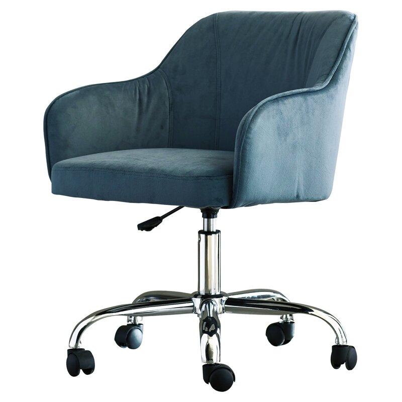 Candace Velvet Office Chair