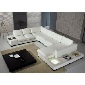 Alana Cork Leather Sectional by Orren Ellis