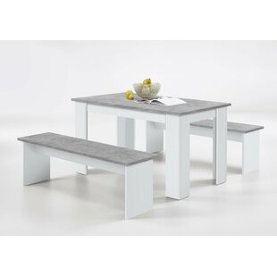 Lystra Dining Set With 2 Benches