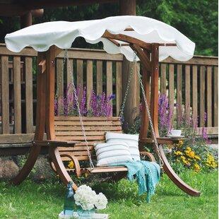 Garden Wooden Swing Chair Wayfair Co Uk