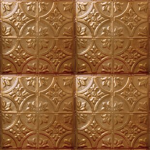 Tin 2 Ft X Glue Up Ceiling Tile In Rustic Copper Translucent