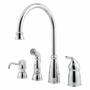 Avalon Single Handle Kitchen Faucet With Side Spray