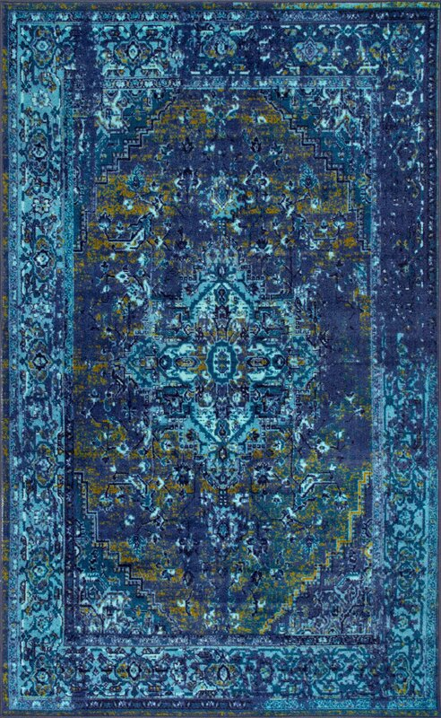 World Menagerie Tyrese Blue Area Rug Amp Reviews Wayfair