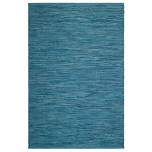 Markowski Hand-Woven Blue Indoor/Outdoor Area Rug