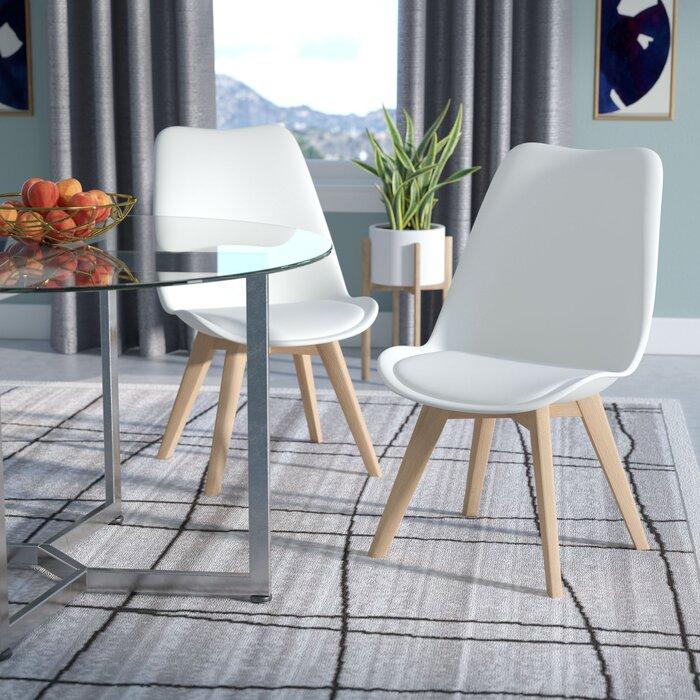 Wade Logan Dakota Upholstered Dining Chair Reviews Wayfair Ca
