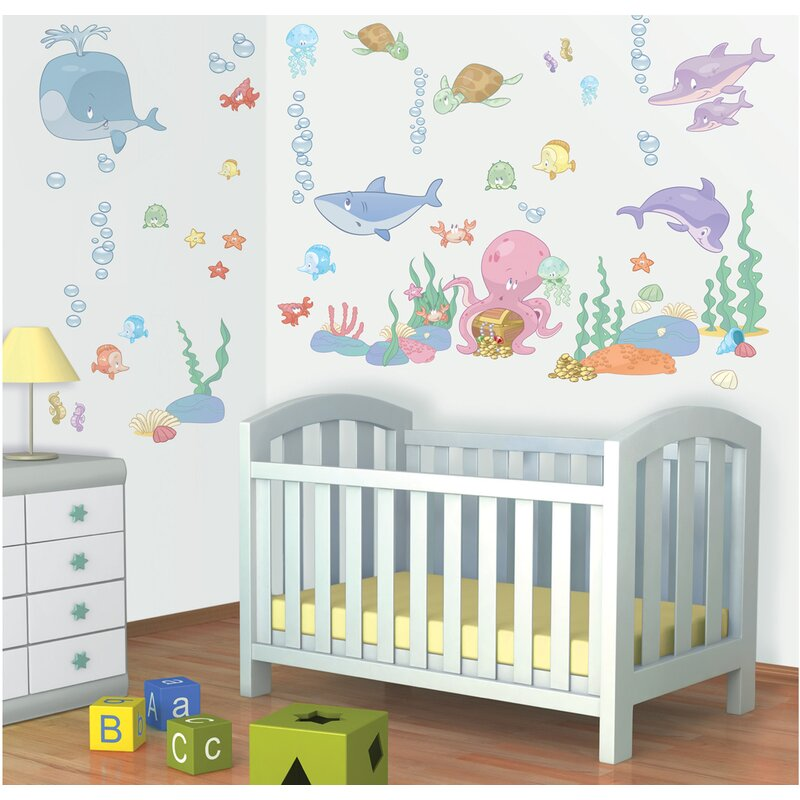 Wallpops Baby Under The Sea Wall Decal Wayfair