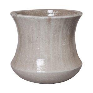 large concave ceramic pot planter