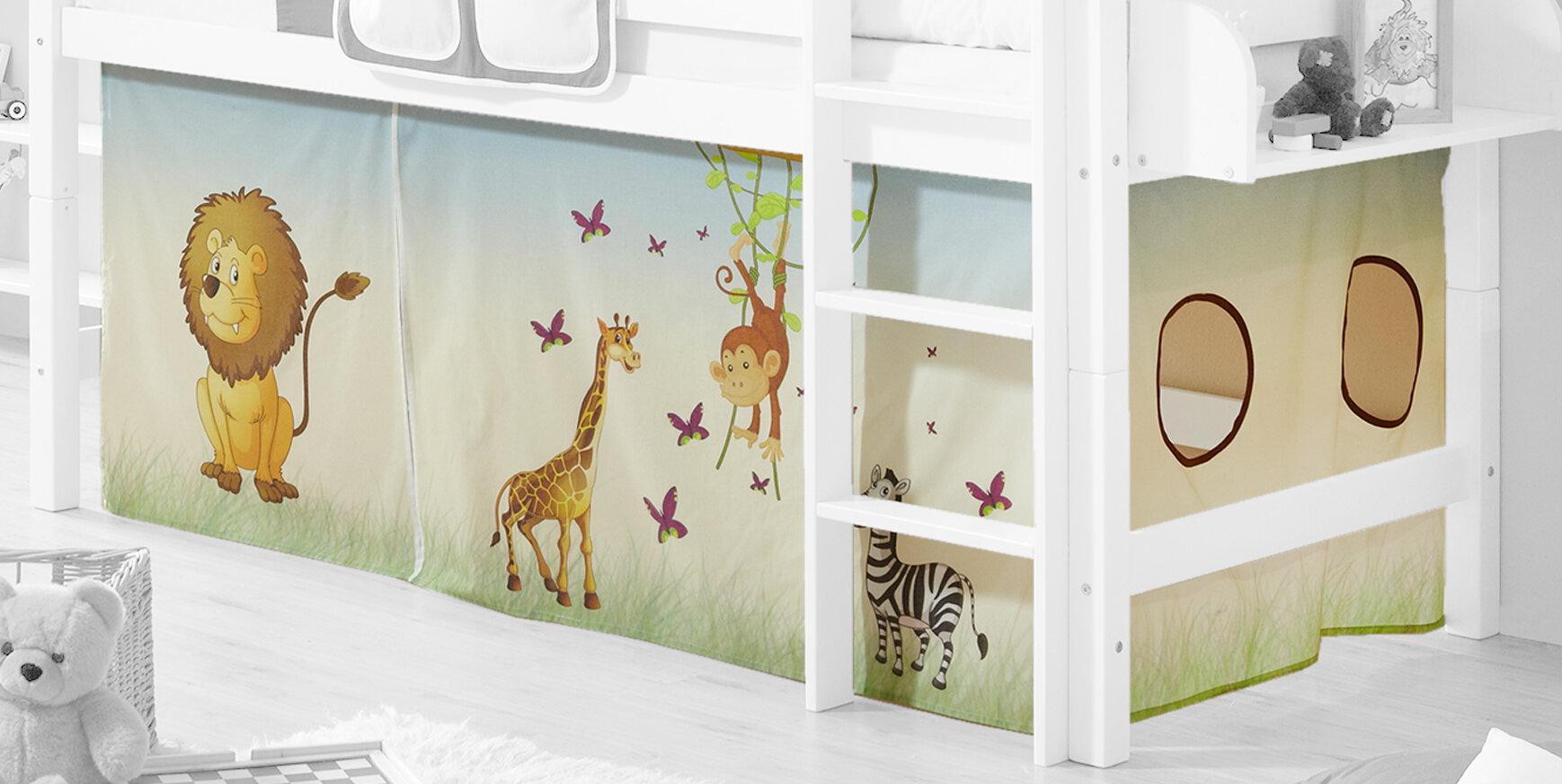 Ticaa Etagenbett Vorhang : Ticaa hochbett vorhang safari wayfair.de