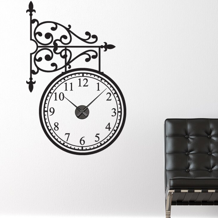 Style And Apply Train Station Wall Clock Wall Decal Wayfair