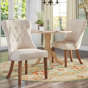 Quickview & Linen Dining Chair Tufted | Wayfair