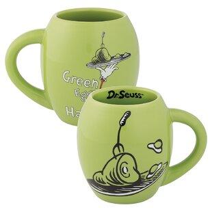 a03ac295468 Dr. Seuss Green Eggs and Ham Oval Coffee Mug. by Vandor LLC