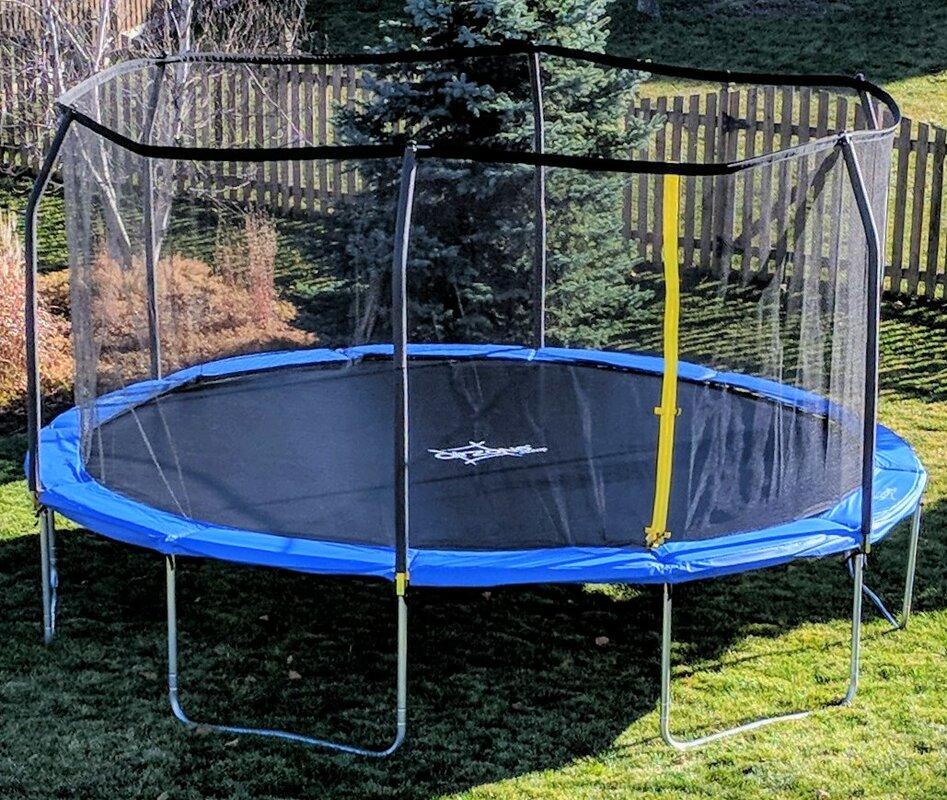 Backyard Jump 12u0027 Round Trampoline With Safety Enclosure