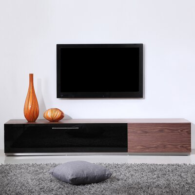 B-Modern Producer TV Stand for TVs up to 88 Color: Walnut