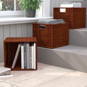 Murphysboro Wicker Storage Basket (Set of 3)