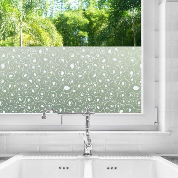 Bathroom Window Privacy Film Lowes: Stick Pretty Calla Privacy Window Film