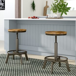 Port Morris Adjustable Height Bar Stool (Set of 2)