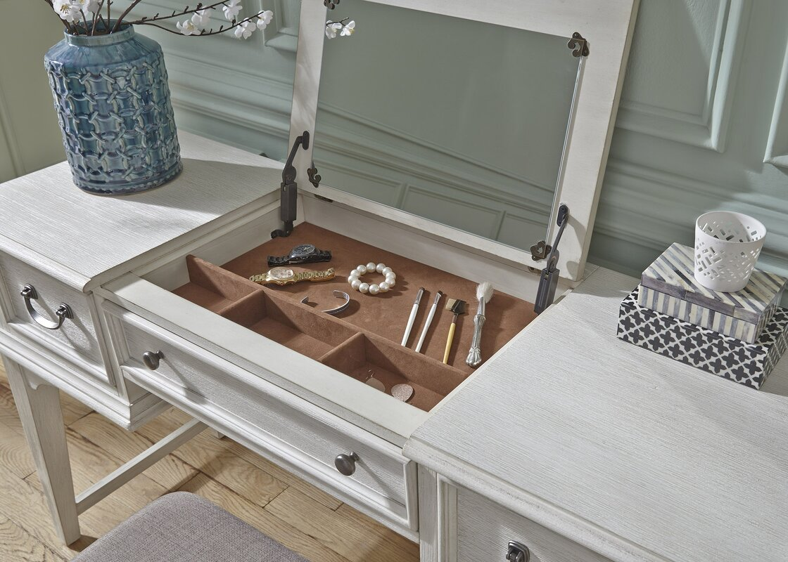 Trenton Vanity Desk With Mirror