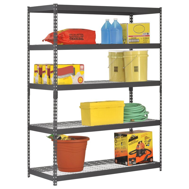 Wfx Utility 78 H Steel Five Shelf Heavy Duty Shelving Unit Reviews Wayfair