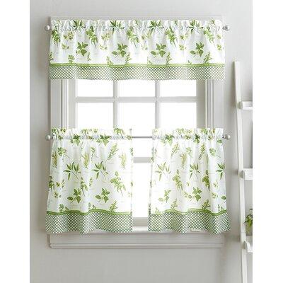 Cherelle Herb Graden Kitchen Curtains